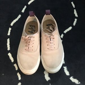 Eytys Women Mother Sneakers7.5 Pastel Pink Suede